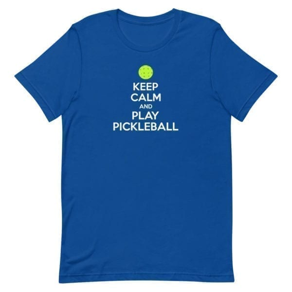 click to buy Keep Calm and Play Pickleball Men's Shirt