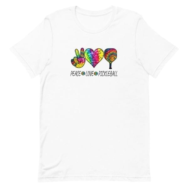 click to buy Peace Love and Pickleball Shirt for Men