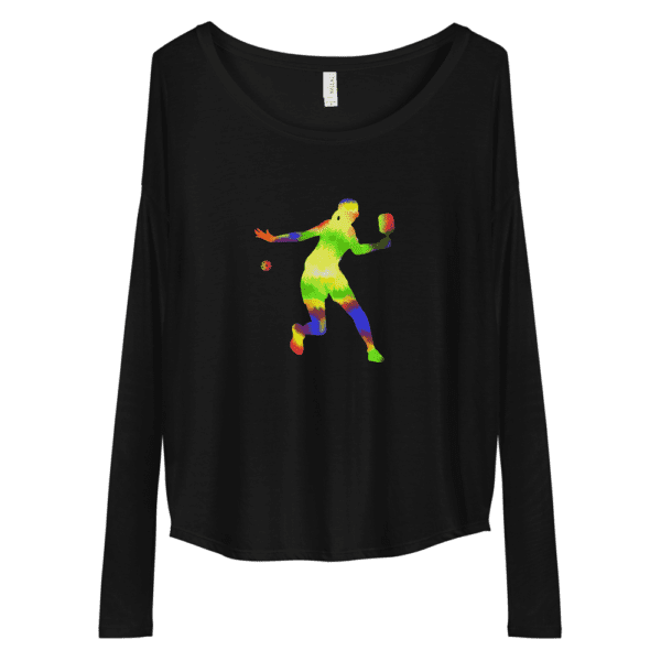 Click to buy this long sleeve pickleball shirt for women