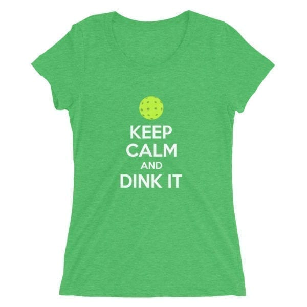click to buy Keep Calm and Dink It Pickleball Tee for Women