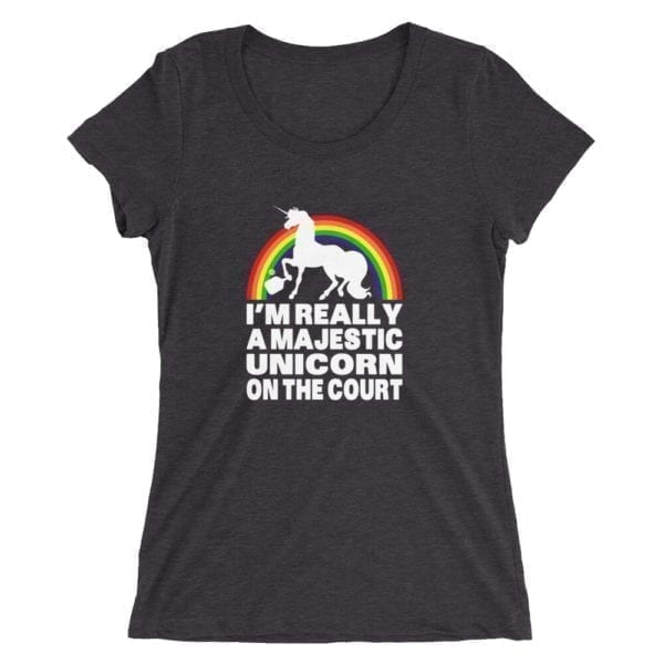 click to buy Majestic Unicorn Pickleball Shirt for Ladies