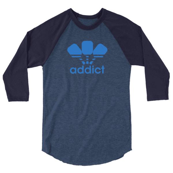 Click to buy this Pickleball Addict Unisex Raglan Tee